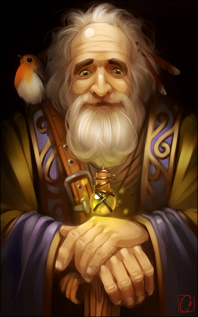 The Old Wizard, Art by Alexandra Khitrova
